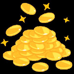 山積みの金貨のイラスト